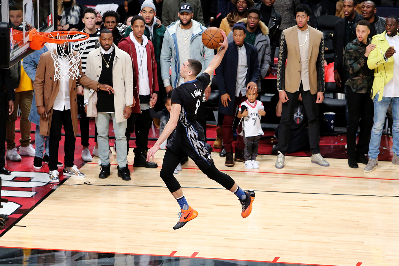 Zach LaVine scored a perfect 50 on his first dunk and needed two dunk-offs to outlast Aaron Gordon for a classic victory.